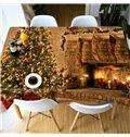 Christmas Oil-Proof Polyester Rectangle Printed 3D Tablecloth