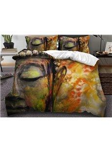 Golden Zen Peace Meditation Design 3D 3-Piece Bedding Sets/Duvet Covers
