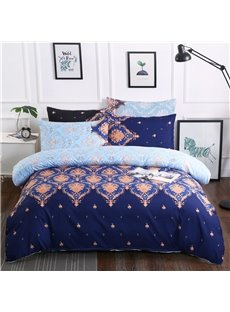 Unique Floral Pattern Printed Royal Style Polyester 3-Piece Bedding Sets/Duvet Cover