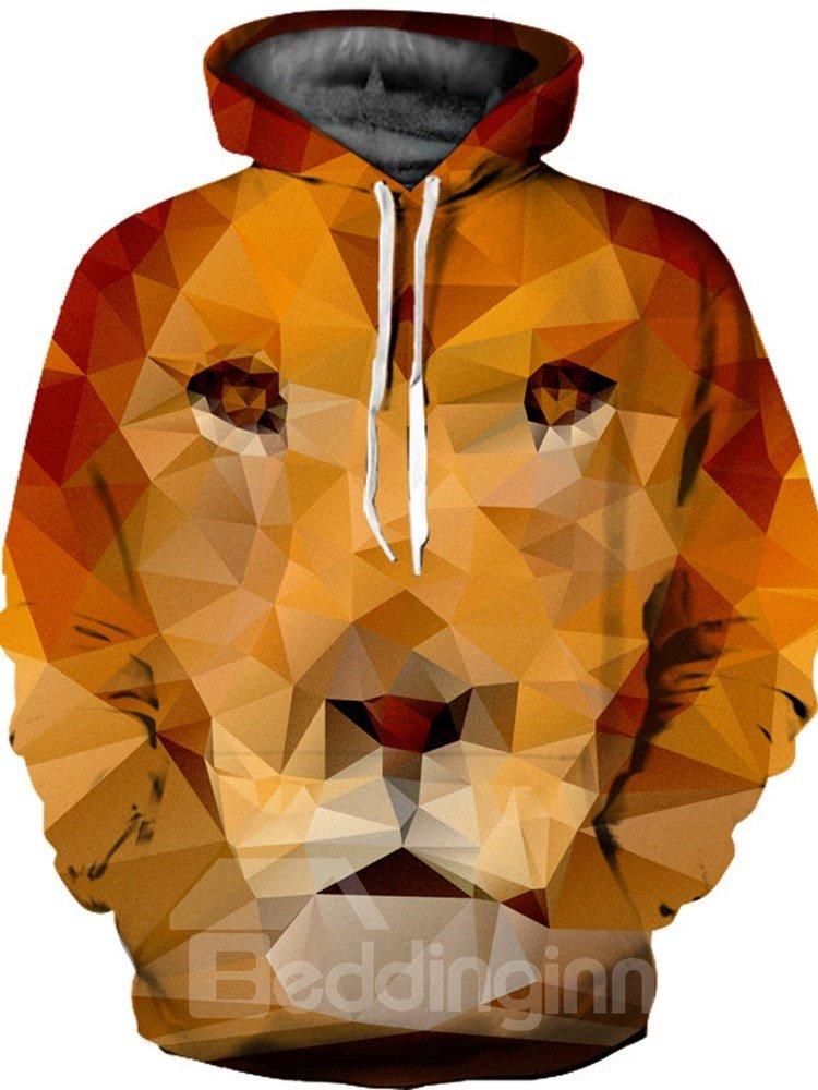 Vibrant Color Loose Model Polyester Kangaroo Pocket 3D Painted Hoodie