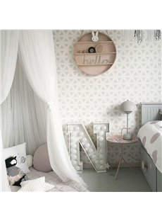 Chiffon Fabric Princess Style Home Decor Kids White Round Canopy