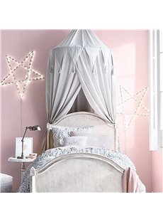 Chiffon Fabric Princess Style Home Decor Kids Grey Round Canopy