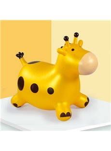 Creative Yellow Giraffe Shape Thicken PVC Material Kids Toy Jumping Horse
