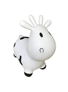Creative White Cow Shape Thicken PVC Material Kids Toy Jumping Horse