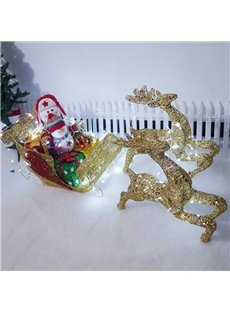 Sophisticated Exquisite Workmanship Iron Sleigh Ride Christmas Decoration