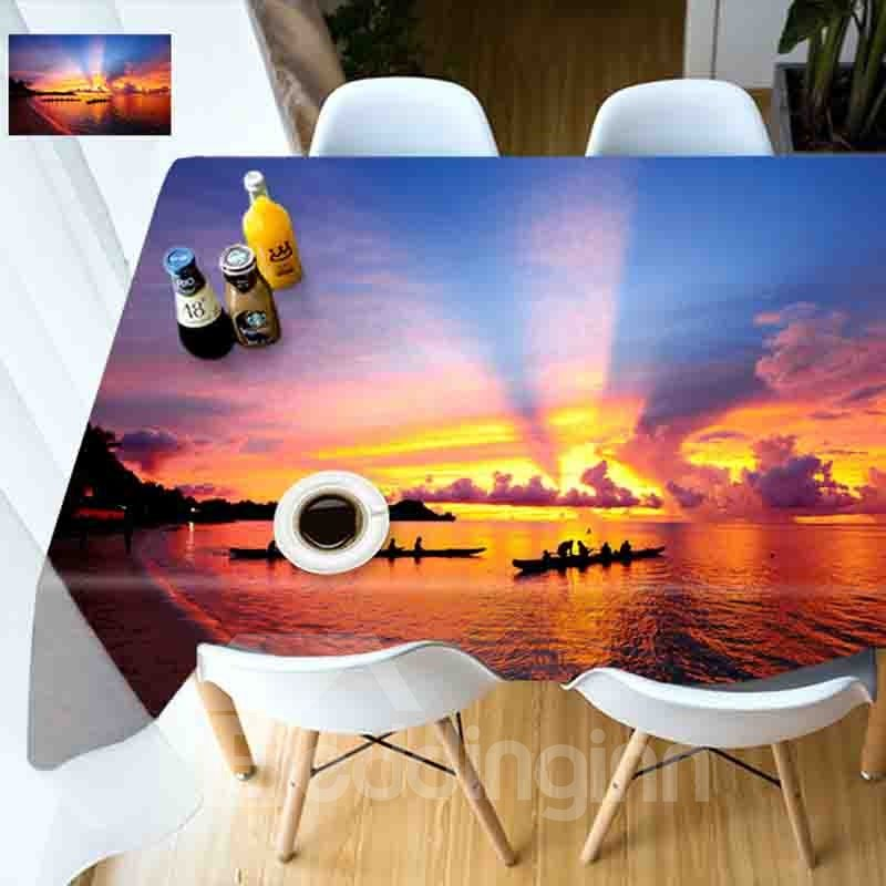Personalized Waterproof Rectangle DIY Style 3D Tablecloth
