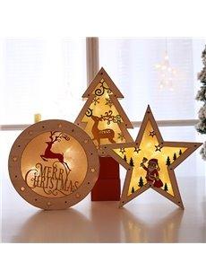 Christmas Illuminating Wood Color Wooden Ornament