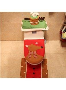 Gentle Mr. Reindeer 3 Piece Set Toilet Cover