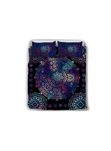 Paisley_Bohemian_Style_Dark_Purple_Pattern_5Piece_Comforter_Sets
