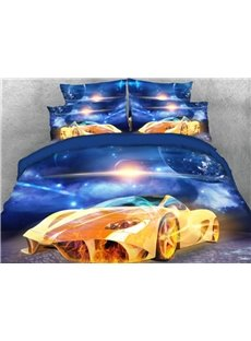Super Sports Car under the Sky Printed 5-Piece 3D Comforter Sets