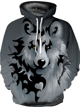 Loose Model Pullover Cool Design Lightweight 3D Painted Hoodie