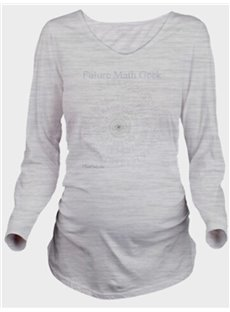 Casual Style Maternity Print Loose Model Long Sleeve T-Shirt