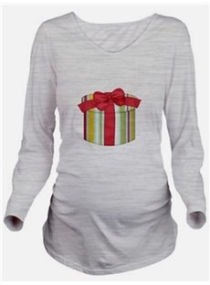 Christmas Gift Loose Model Maternity Print Casual Style T-Shirt