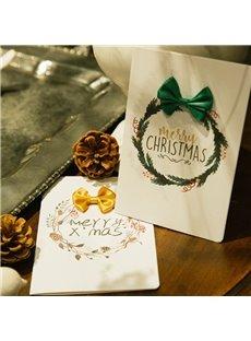 Elegant Bow 3-color Christmas Greeting Card