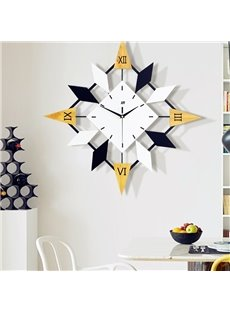 Black And Yellow MDF Creative Shape Battery Hanging Wall Clock