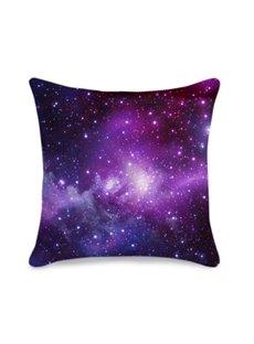 Galaxy Cluster Printed 3D Purple Throw Pillowcase