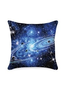 Universe Planet Galaxy Printed 3D Throw Pillowcase