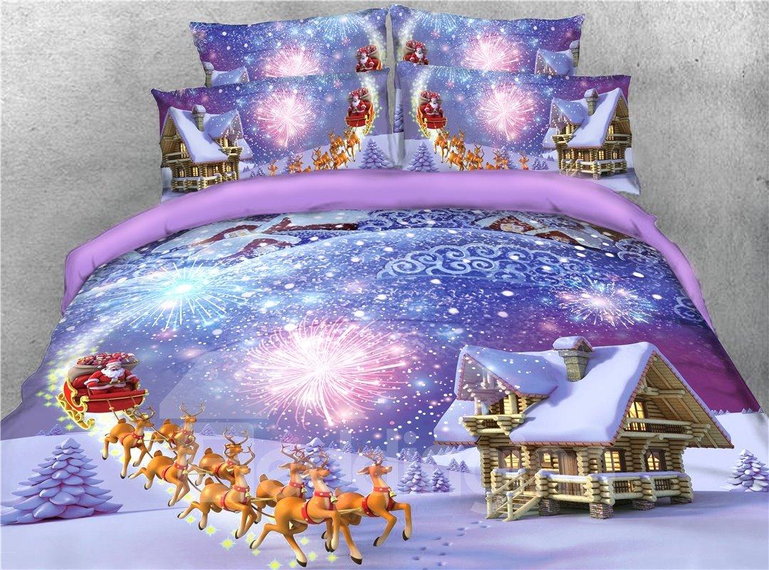 Reindeer Pull Santa