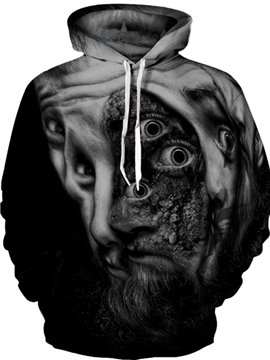 Unisex Lightweight Vibrant Color Loose Model 3D Painted Hoodie