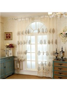 Smooth Sheer Curtain Match Embroidery Floral Pattern Sheer Only