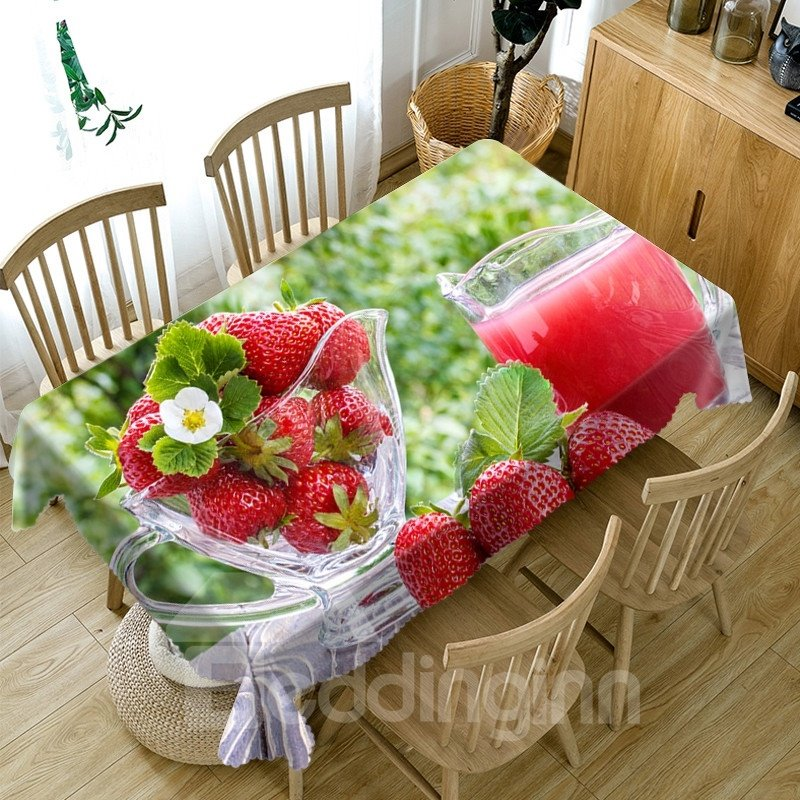 Home Use Waterproof Polyester European Style 3D Tablecloth