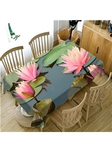 Waterproof Polyester Rectangle European Style 3D Tablecloth
