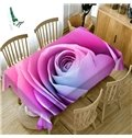 Rectangle Polyester Waterproof Soft Printed 3D Tablecloth