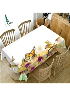Rectangle Polyester Oilproof Printed European Style 3D Tablecloth