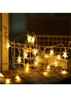 Room Layout Shiny Stars Battery Operated String Lights