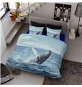 Sea Lion and Ocean Printed 4-Piece Cotton 3D Bedding Sets/Duvet Covers