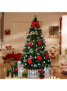 6 ft Christmas Tree Set with String Lights