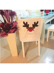 Simple Style Creamy White Reindeer Chair Cover