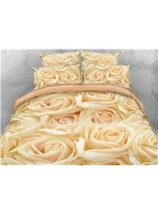 Luxurious_Golden_Roses_Printed_4Piece_3D_Bedding_SetsDuvet_Covers