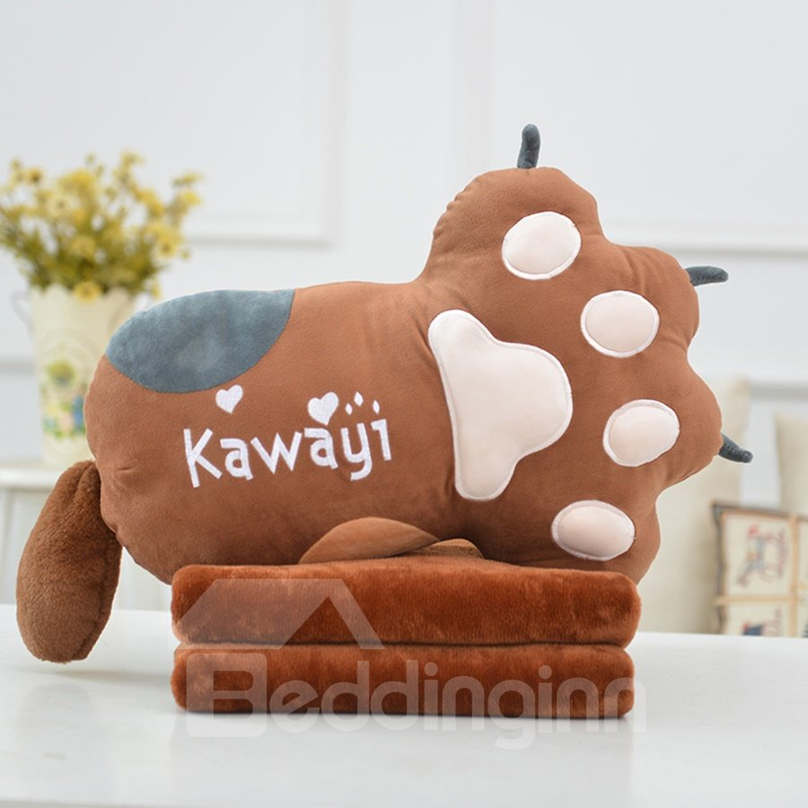 Creative Cute Cat Paw Soft and Breathable Plush Baby Toy And Blanket
