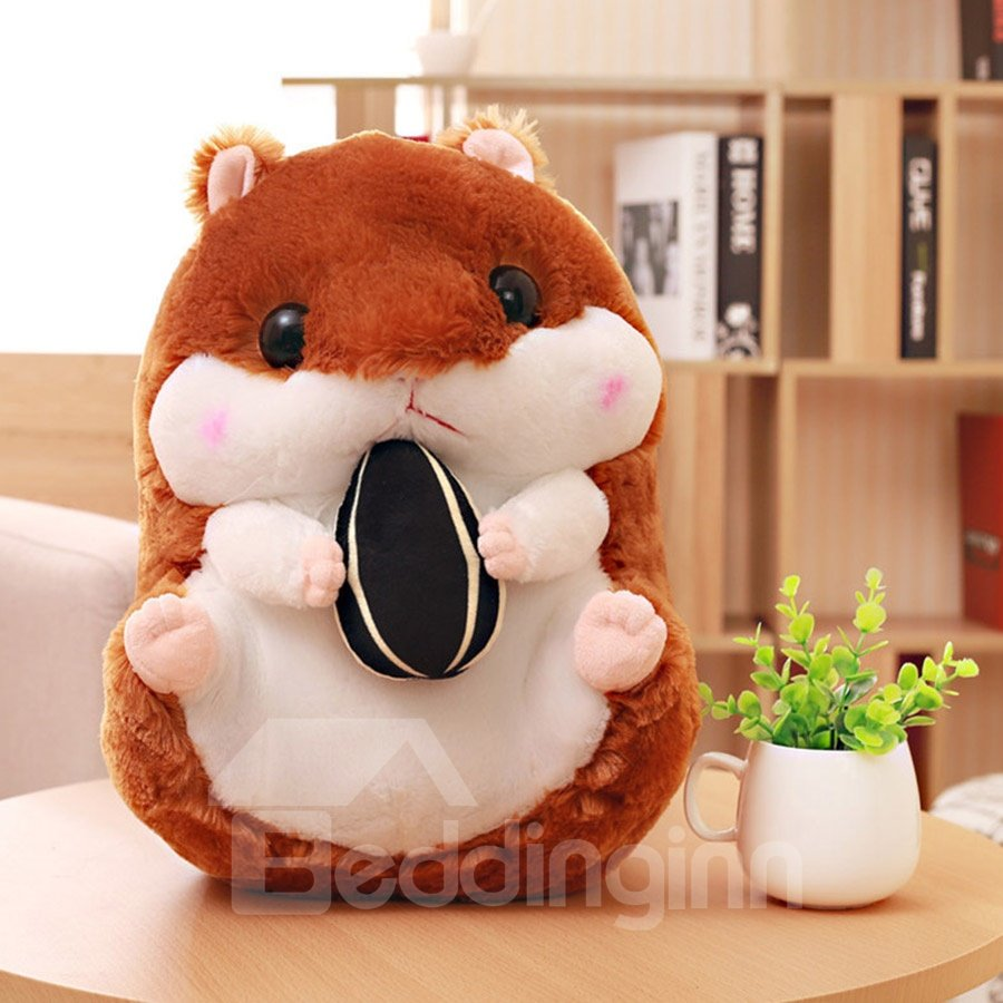 Coffee Cute Creative Hamster Soft and Breathable Plush Baby Toy And Blanket