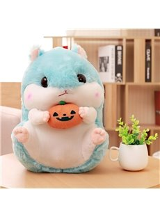 Blue Cute Creative Hamster Soft and Breathable Plush Baby Toy And Blanket