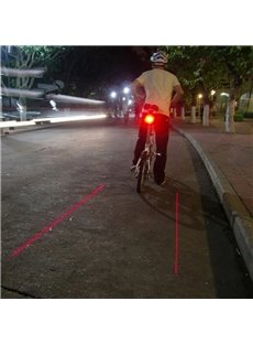 Cool Safe Ground Red Laser Bicycle Rear Lamp