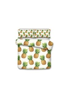 Pineapples Printed 3-Piece Polyester 3D Bedding Sets/Duvet Covers