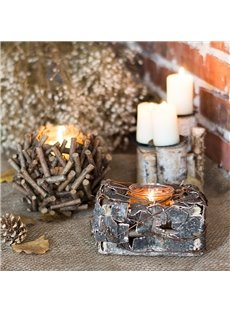 Natural Handmade Birch Bark Candlestick