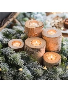 White Birch Natural Trunk Decoration Tabletop Decoration Candlestick