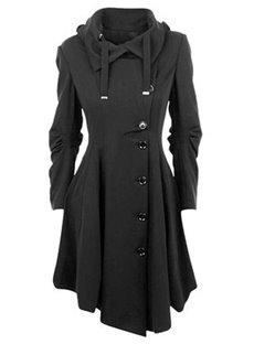 Lapel Single-Breasted Cotton Slim Model Patchwork Coat