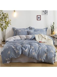 Floral Pattern Printed Cotton 4-Piece Bedding Sets/Duvet Covers