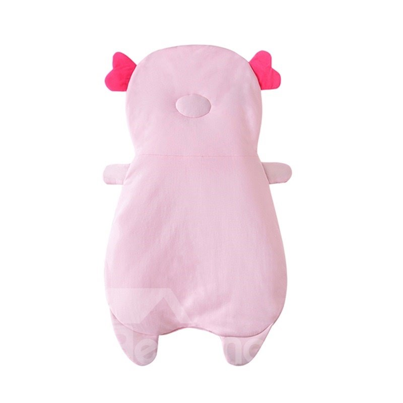 2 Color Cute Pig Shape Anti-Kicking Velvet Baby Sleeping Bag