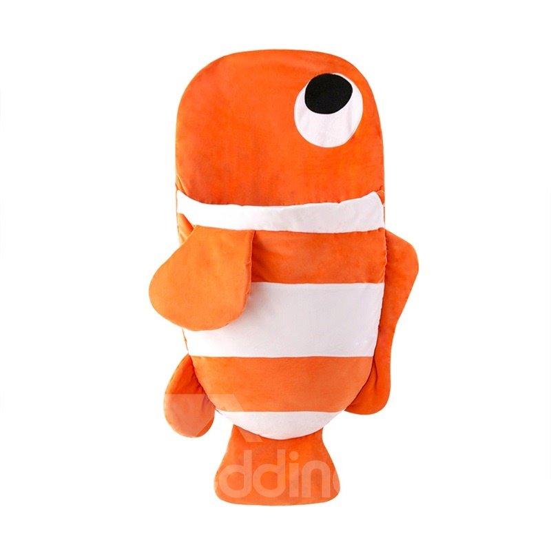 Cute Small Fish Pattern Anti-Kicking Velvet Baby Sleeping Bag