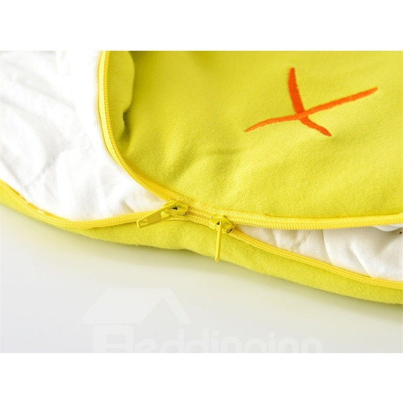 Cute Yellow Duck Shape Anti-Kicking Velvet Baby Sleeping Bag