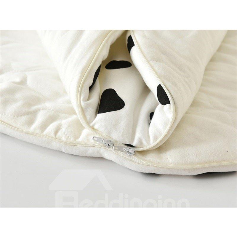 Cute Cow Shape Anti-Kicking Velvet Baby Sleeping Bag