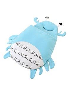 Cute Crab Shape Anti-Kicking Velvet Blue Baby Sleeping Bag