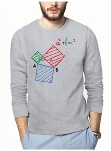 Creative Patern Loose Model Cotton Long Sleeve 3D T-Shirt