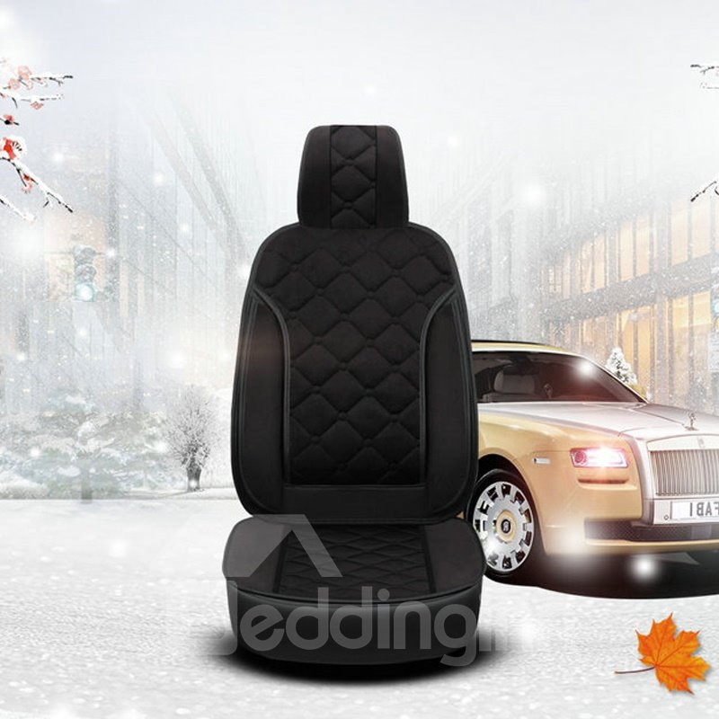 Winter Short Plush Warm Universal Single Car Seat Cover