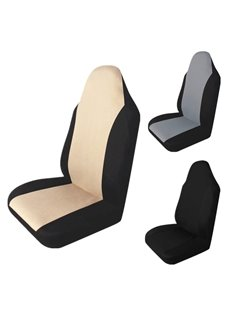 Simple Color Block Universal Single Car Seat Cover